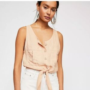 Free People Highway Cruisin Button Down Top